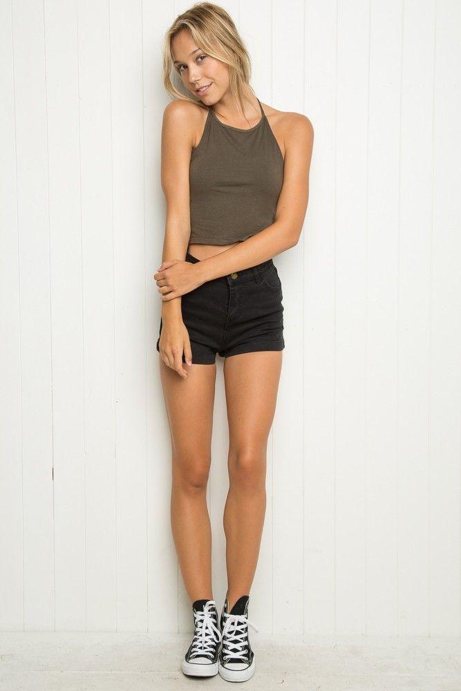 #haltertops - Brandy ♥ Melville - brandymelvilleusa.com | #Model: Alexis Ren | @NatalieYoung29 - stylishwife.com
