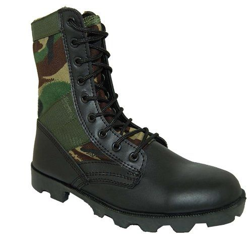 SHOE ARTISTS Combat Leather Jungle Boots, Men, Black, Size 10 - http://authenticboots.com/shoe-artists-combat-leather-jungle-boots-men-black-size-10/