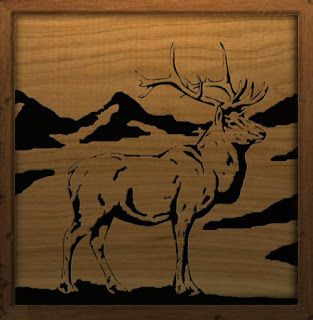 Scroll Saw Patterns | Free Scroll Saw Patterns by Arpop: Elk Scroll Saw Pattern