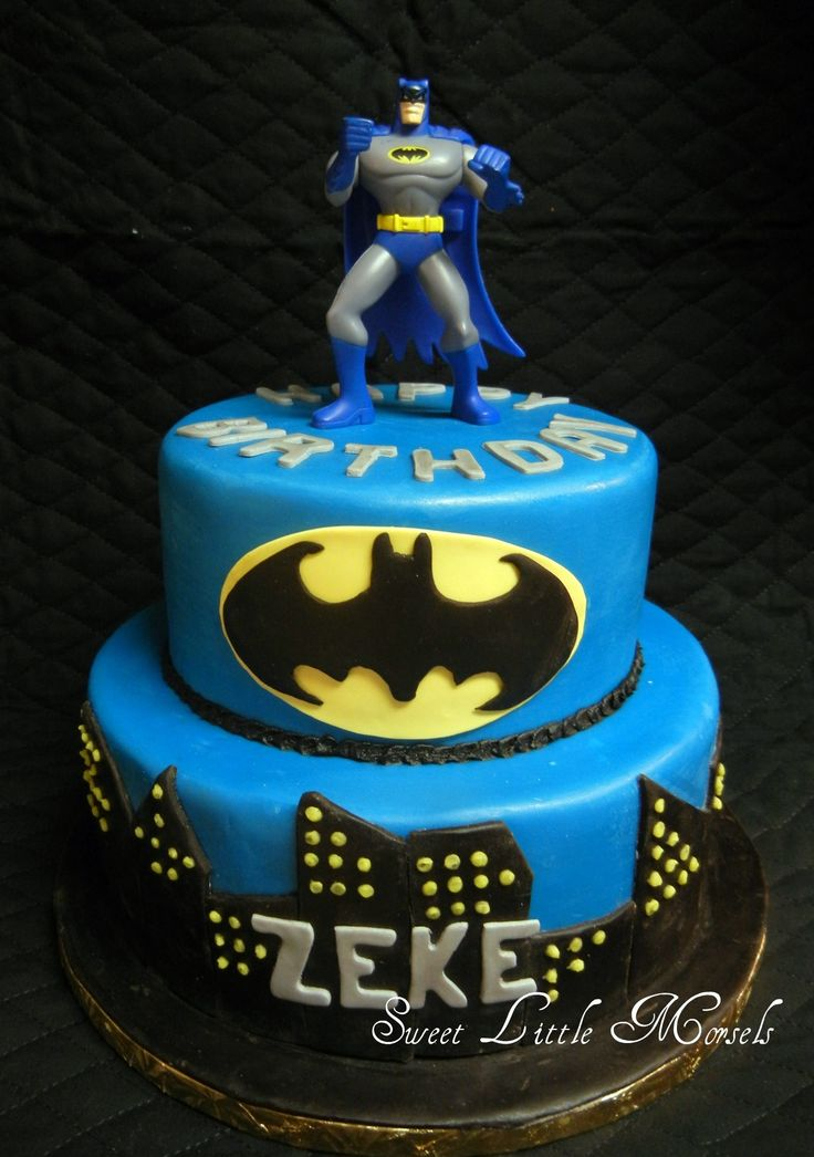 Batman Cake - I had a lot of fun making this cake. Too bad I did not have enough time to make an edible Batman figure. But the birthday boy loved his cake!