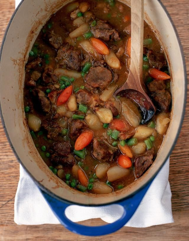 Here's an easy, hearty beef stew recipe using stew beef, onions, potatoes and carrots, along with celery and seasonings.