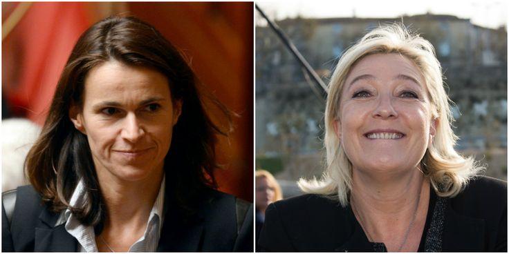 Aurélie Filippetti accuse Marine Le Pen de fascisme après ses menaces contre les fonctionnaires.