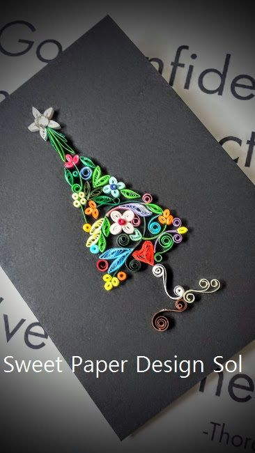 Paper Quilling Christmas Tree Card. Handmade Gift. by SweetPaperDesignSol on Etsy