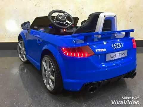 Este modelos de coche de batería para niños se entrega en 4 días aprox (Portugal 2 días más) Coches para niños, modelo Audi TT RS azul con 2 motores de 12v ..