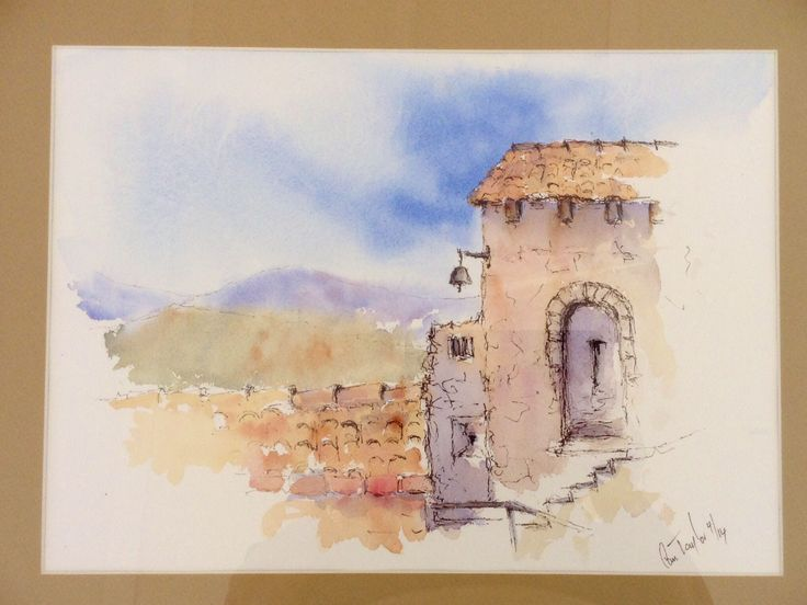 El Castillo, pen and wash