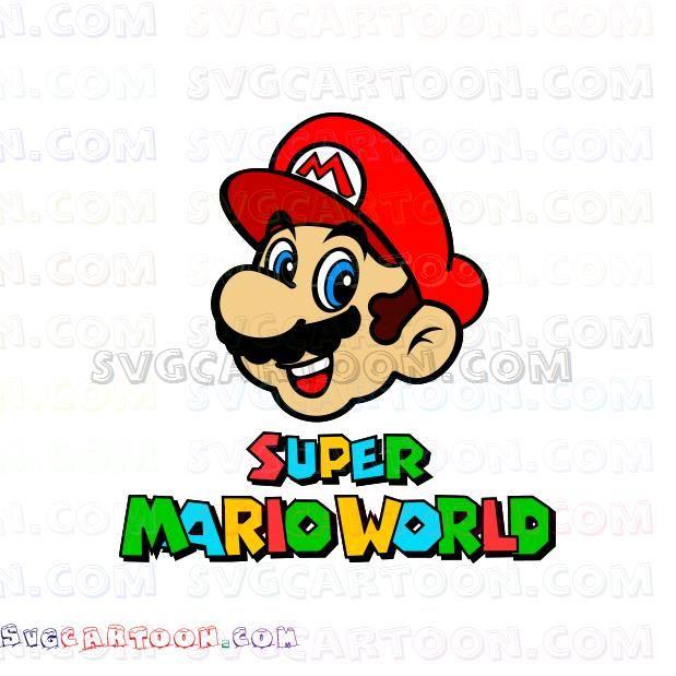 Super Mario World Face Svg Dxf Eps Pdf Png Super Mario Mario Super Mario Birthday