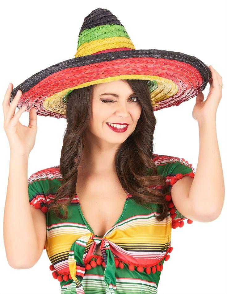 Sombrero messicano multicolor per adulto-1