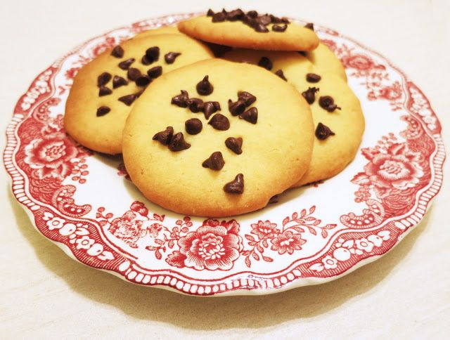 tre muffin e un architetto: Biscotti con gocce di cioccolato
