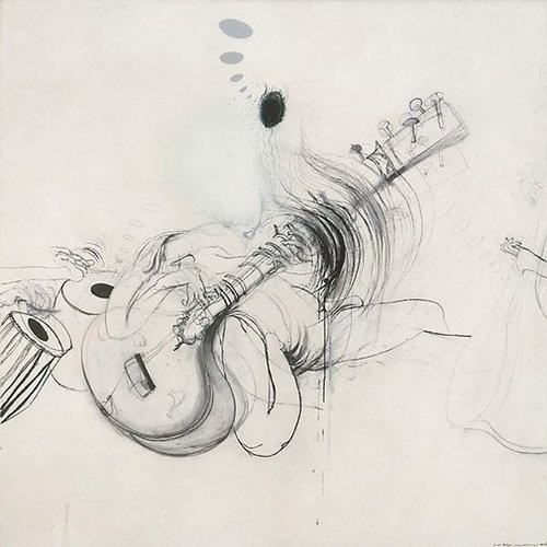 Ravi Shankar, by Brett Whiteley
