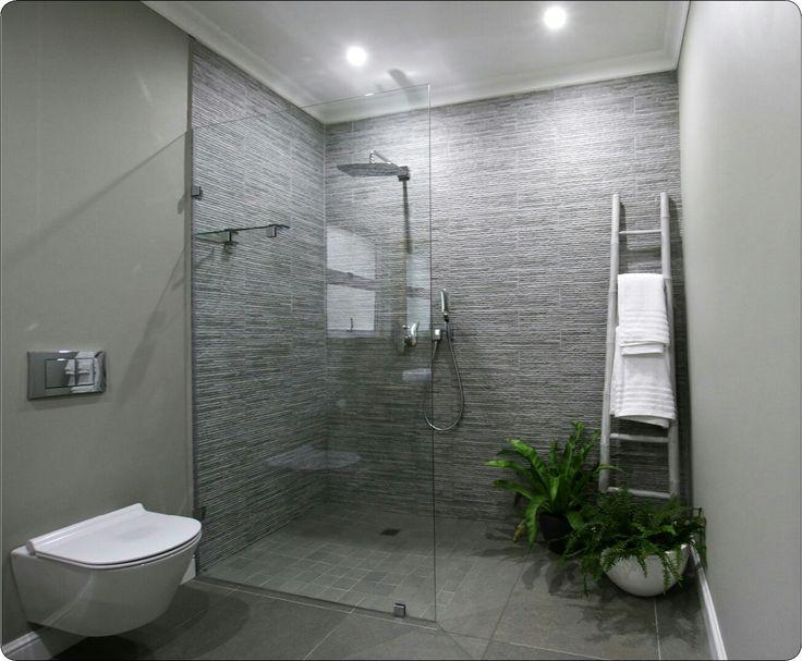 Shower texture plants, grey shower design
