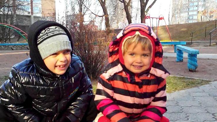 Детские Площадки Летсплей #3 Дети играют Качели Горка Лестница Скамейки