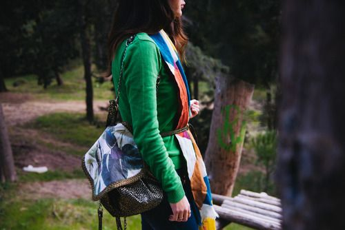 elisfa.com carrying the Dita backpack