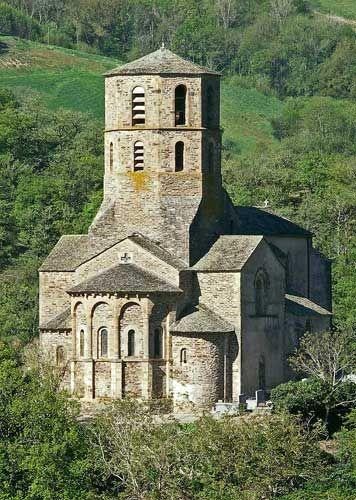 église, romane, saint, martin