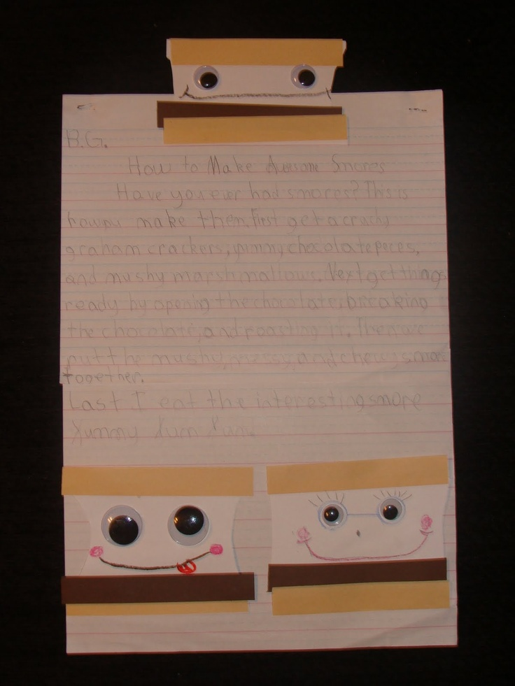 Smore How to Writing activity: S More Writing, Teacher Blog, Expository Writing, Bubbles Gum, First Grade Blog, Saylor Logs, Writing Ideas, How To Writing, Writing Activities