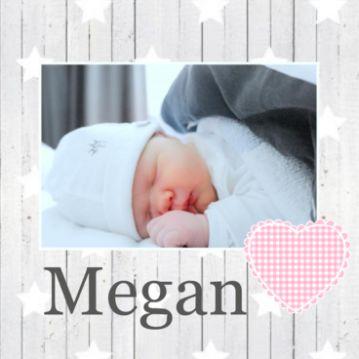 Geboortekaartje met foto meisje f949 JippieJippie
