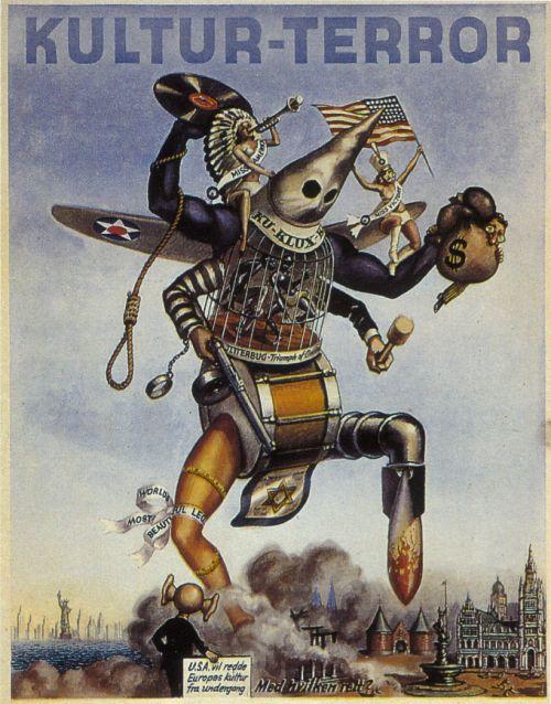 German propaganda poster from World War II, painted byHarald Damsleth.: