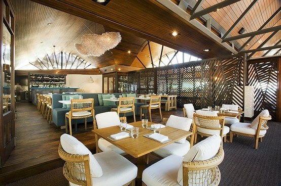Newly refurbished dining room at the Beach Hotel in Byron Bay.