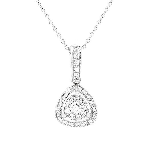 18 CARAT WHITE GOLD DIAMOND PENDANT