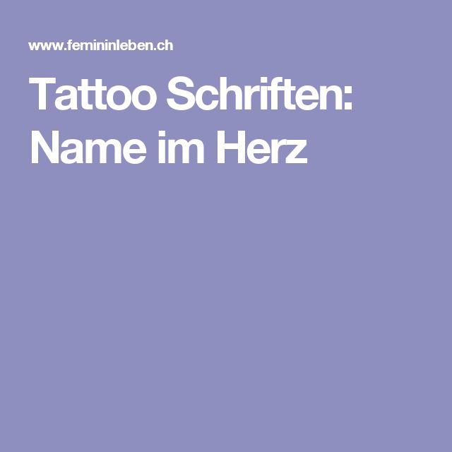 Tattoo Schriften: Name im Herz