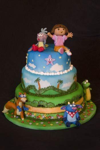 Dora Cake by macarbine, via Flickr