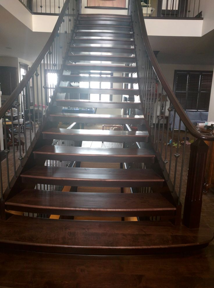 Best Sanded Stained And Finished Decor Stairs 400 x 300