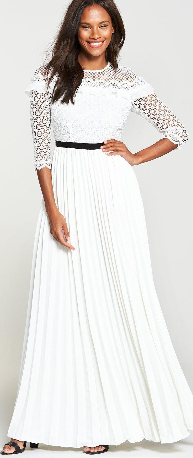 Clean White Lace Dress Perfect For Relaxed Garden Party
