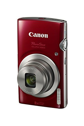 Discounted Canon PowerShot ELPH 180 Digital Camera w/ Image Stabilization and Smart AUTO Mode (Red)