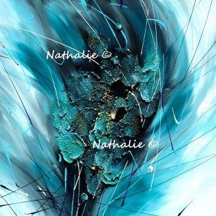 elèctrique tableau abstrait modern acrylique sur toile 3d Nathalie-robert-peinture