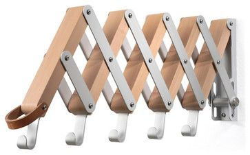 Pear-Wood Collapsible Garment Hanger eclectic clothes racks Manufactum website