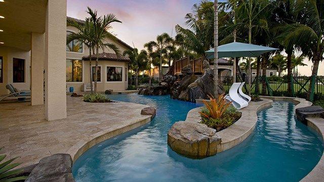 Backyard Lazy River Pool  Swimming Pools  Pinterest
