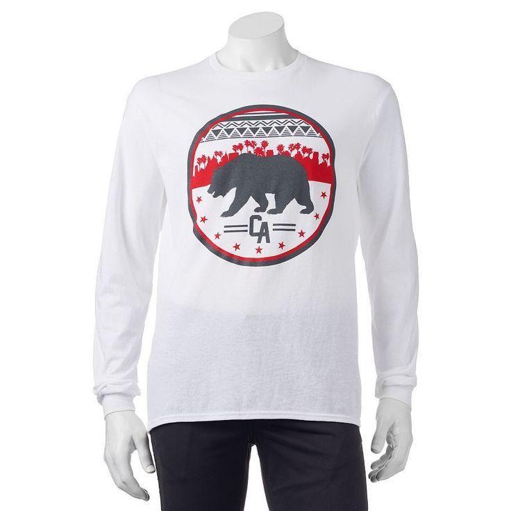 TONY HAWK CALIFORNIA COAST Bear Logo Long Sleeve T-Shirt Men's Size S - 2XL NWT #TONYHAWK #GraphicTee