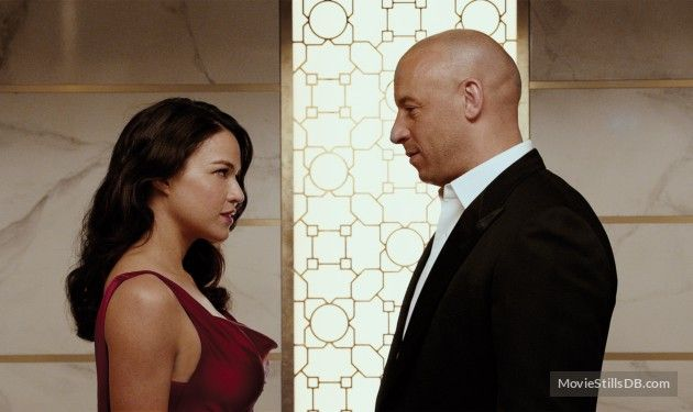 Furious 7 - Publicity still of Vin Diesel & Michelle Rodriguez