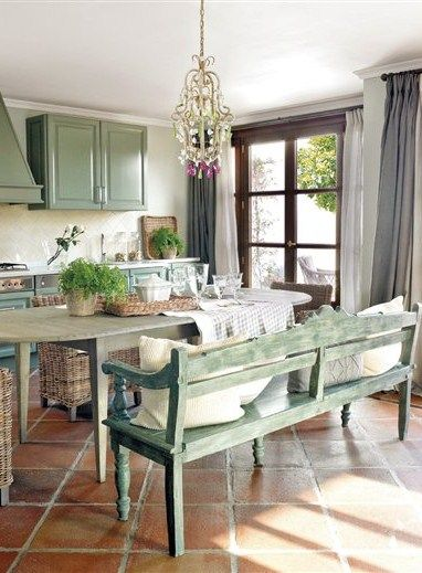 Interesting rustic kitchen design