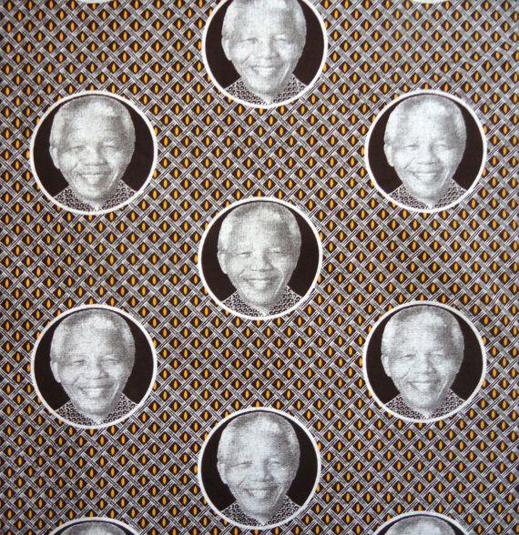 Nelson Mandela Shweshwe cotton fabric by FabricStyle on Etsy, $12.70