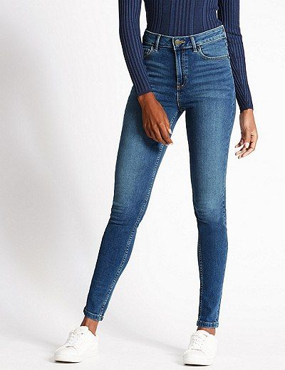 Mid Rise Super Skinny Leg Jeans   Marks & Spencer London