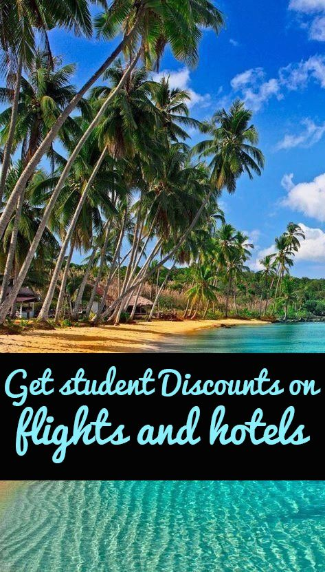 How to get STUDENT DISCOUNTS on flights and hotels. Best pin ever for travelers!