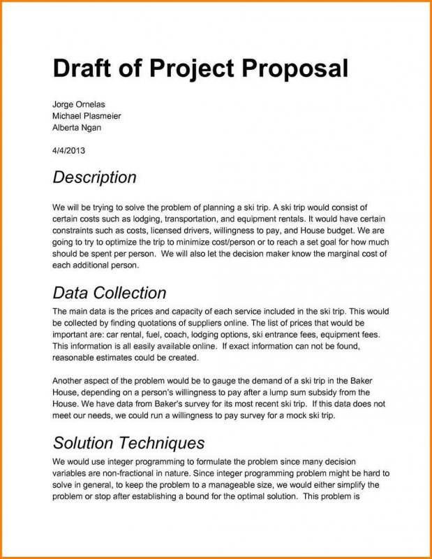 Project Proposal Sample Business Proposal Examples Project