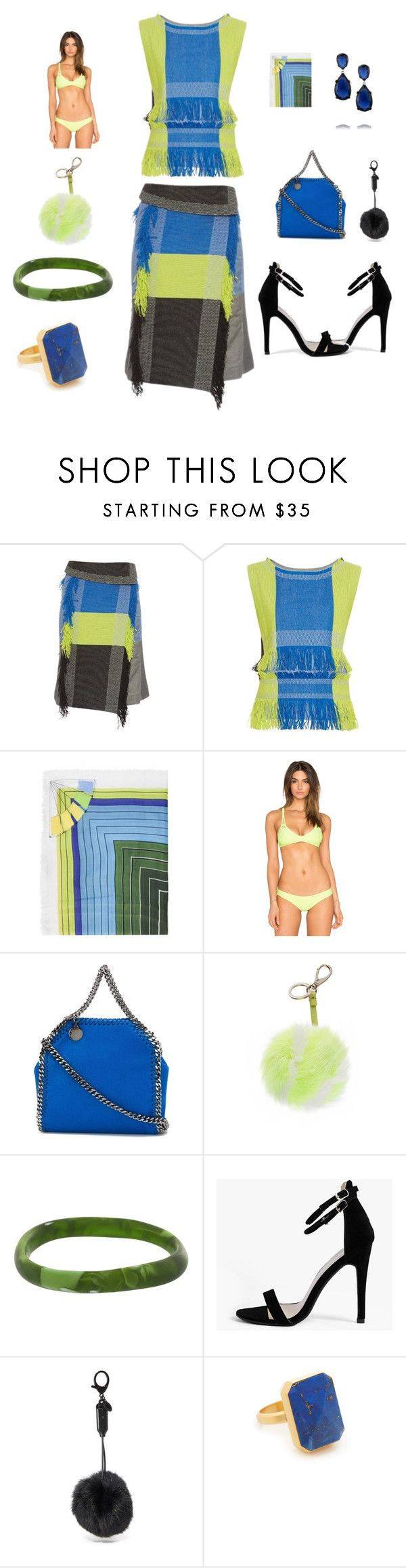 """Boost your Look"" by camry-brynn ❤ liked on Polyvore featuring Issey Miyake, Mary Katrantzou, Frankie's Bikinis, STELLA McCARTNEY, Anya Hindmarch, Dinosaur Designs, Boohoo, Rebecca Minkoff, Ringly and Kenneth Jay Lane"