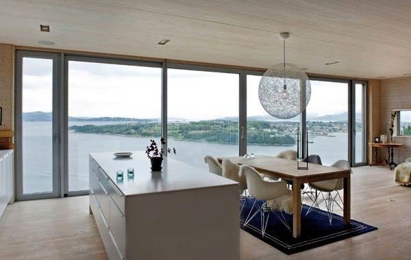 Resurrected Norwegian Northface House Overlooking The Fjord