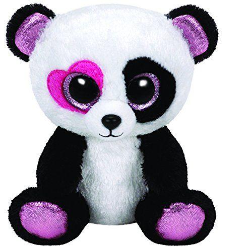TY 36130 – Mandy – Panda mit rosa Herzauge, Glitzeraugen, Beanie Boo's, Valentine Special, limitiert, 15 cm