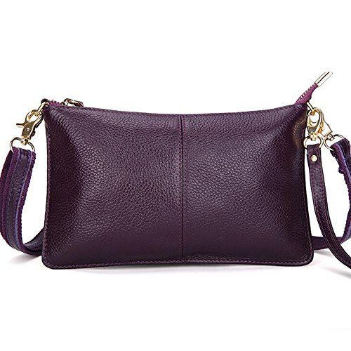 New Trending Cross Body Bags: Mynos Genuine Leather Zipper Vintage Small Women Crossbody Purse Bag (Purple). Mynos Genuine Leather Zipper Vintage Small Women Crossbody Purse Bag (Purple)   Special Offer: $18.99      433 Reviews This bag is a small 100% cowhide leather bag,it's function ,used in small crossbody bag with long shoulder straps and daily clutch bag with wrist straps ,and the bag...