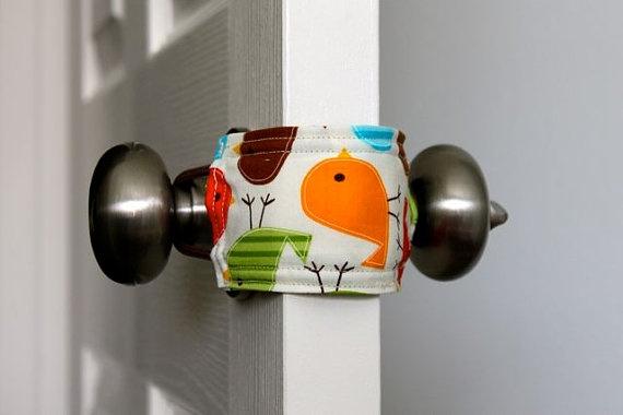 door jammer - makes for quiet doors with sleeping babies. make my own.