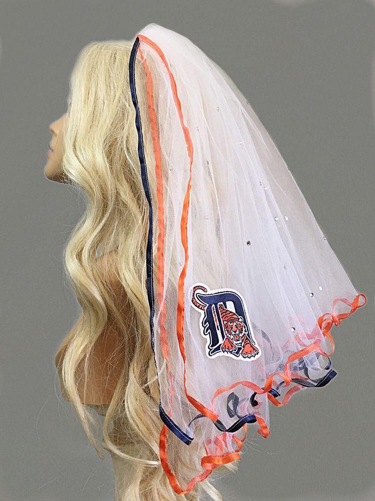 Detroit Tigers Bachelorette Veil by LaurenLashDesignsLLC on Etsy https://www.etsy.com/listing/126834357/detroit-tigers-bachelorette-veil