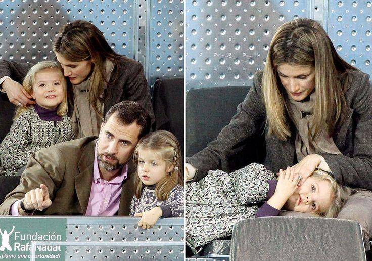 Junto a sus hijas, han protagonizado numerosos momentos divertidos. A finales de 2010, acudieron a uno de partidos de tenis del Master Series de Madrid.