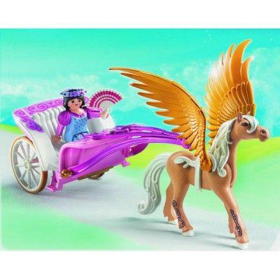 Playmobil 5143 : Carrosse avec cheval ailé - Playmobil-5143