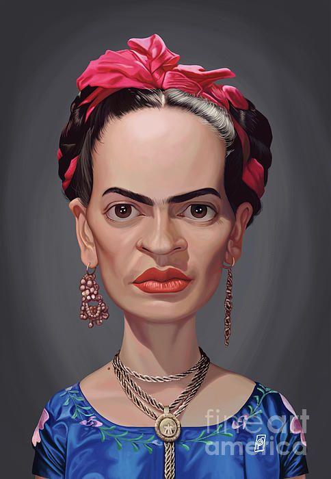 Frida Kahlo art | decor | wall art | inspiration | caricature | home decor | idea | humor | gifts