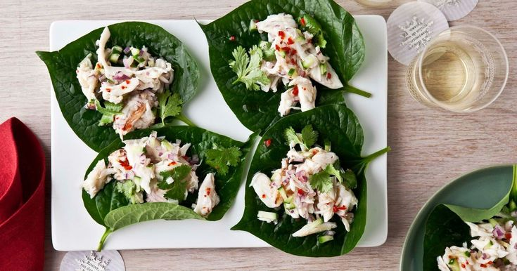 This tasty Thai crab salad on betel leaves recipe is perfect for Christmas entertaining.