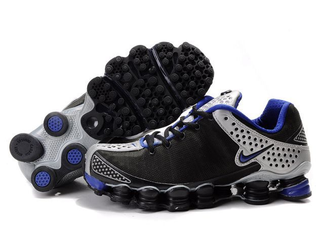 Shop Men's Nike Shox TL Shoes Black/Blue/Silver Top Deals black, grey, blue  and more.