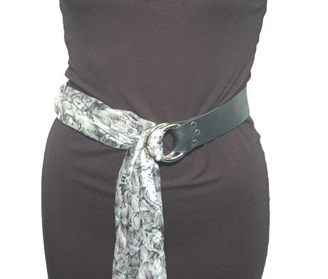 Bison Leather Scarf Belt - wear this with a sweater dress, you boyfriend's white shirt or a summer dress.