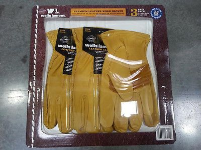 Gardening Gloves 139864: 3 Pairs Wells Lamont Premium Leather Work Gloves Precurved Design Medium -> BUY IT NOW ONLY: $30.88 on eBay!